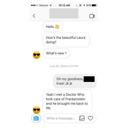 Slide Into the DMs – #DatingLaura